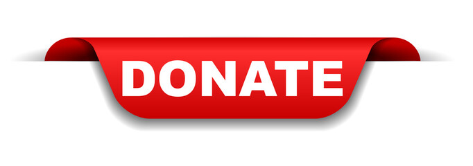 red banner donate