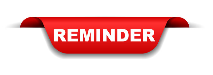 red banner reminder