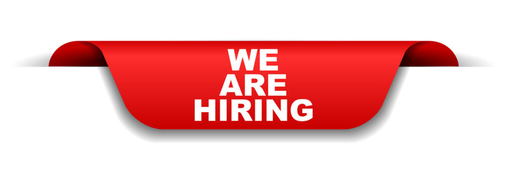 red banner we are hiring