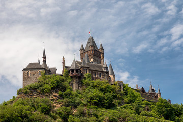 Imperial castle of Cochem above the river Moselle
