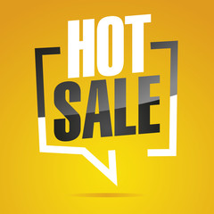 Hot sale in brackets yellow white black isolated sticker icon
