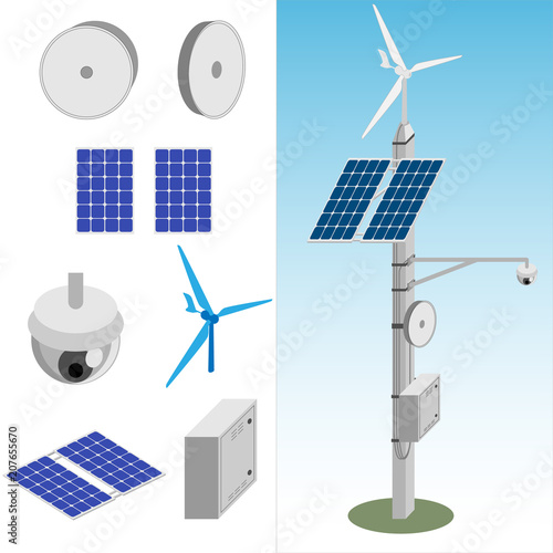 Quot Transmission Tower With Satellite Dish Cctv Camera