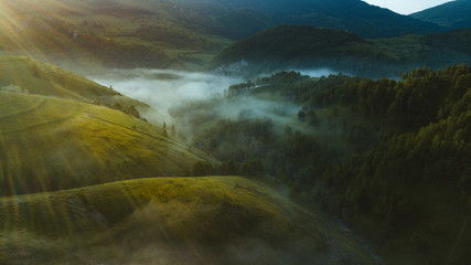 Landscape from Dumnesti, alba iulia, romania, sunrise