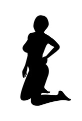 vector of silhouette female sexy pose