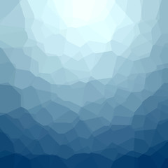 Vector polygonal blue texture. Abstract geometric background.