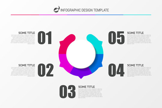 Infographic design template. Business concept with 5 steps