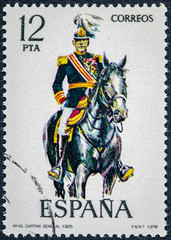 stamp printed in Spain shows Captain General 1925
