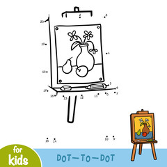 Numbers game, education game, Easel