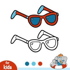 Coloring book, Sunglasses