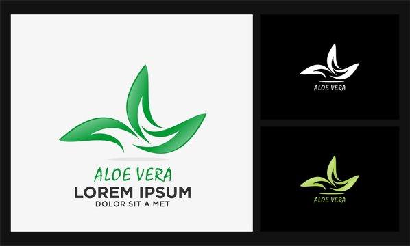 abstract aloe vera logo
