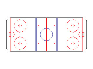 Ice hockey field lines overview illustration