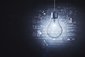 Idea, science and knowlegde concept