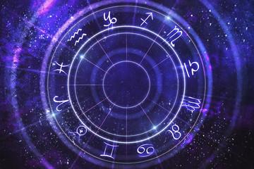 Abstract zodiac wheel backdrop