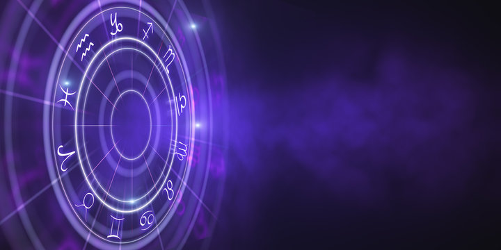 Creative zodiac wheel wallpaper
