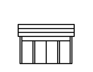 店舗模様(線画)