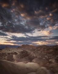 Sunset lookout over Death Valley desert