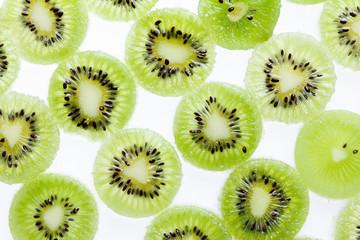 Fresh Kiwi fruit sliced