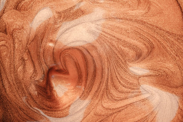 brown orange pearl paint cosmetics texture background
