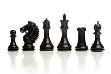 Chess balck pieces