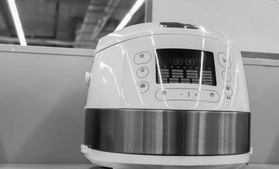 Multi-functional cooking machine on the display in the store.