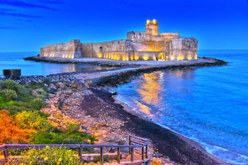 The castle in the Isola di Capo Rizzuto, Calabria, Italy