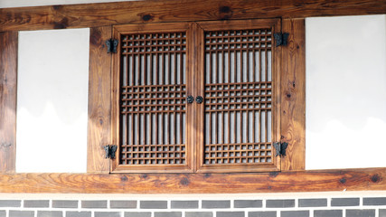 The room window of a Korean traditional house.