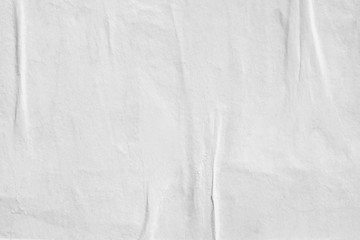 White blank crumpled paper texture background creased old poster texture backdrop surface empty for text Fototapete