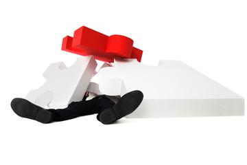 Fototapeta Businessman piled with work obraz