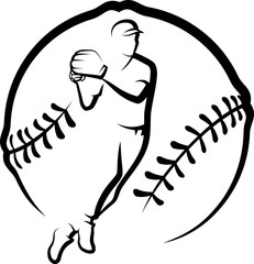 Baseball Throw In Stylized Ball