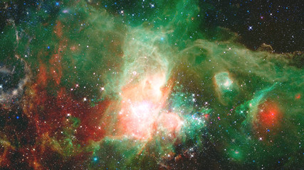 Stars, dust and gas nebula in galaxy. Elements of this image furnished by NASA.
