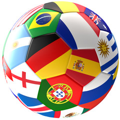Germany Russia soccer football ball 3d rendering
