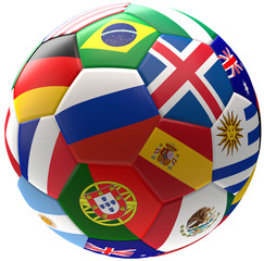 Russia soccer football ball 3d rendering