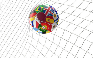Qatar soccer football ball 3d rendering