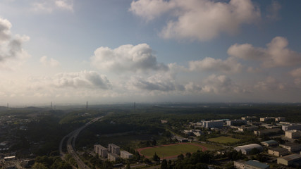 [空撮写真]上空からの街