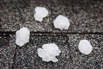 Hail in on roof after hailstorm