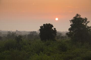 Sunrise in Udawalawe, Sri Lanka.