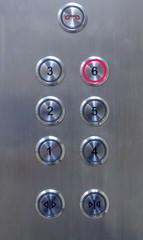 Number of floor elevator button panel select floor 6