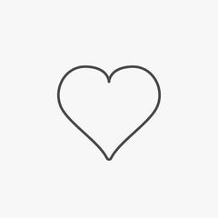 Heart line icon eps10