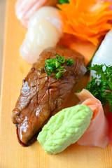Nigiri sushi grilled beef