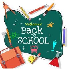 Back to School, Poster, or Banner Design.