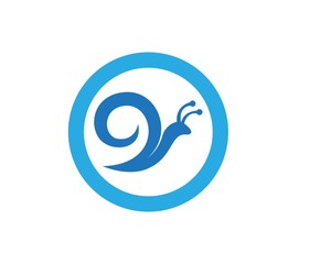 Snail in logo template