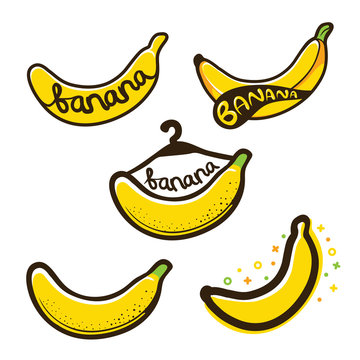 bananas label logo illustration