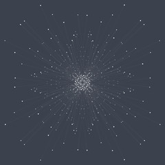 Abstract technology visualization. Background with connecting dots and lines. The concept illustration