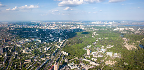 A bird's eye view of the Goloseevsky district of Kyiv