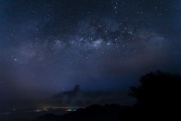 Milky way milkyway as seen from Bukit Panorama Sungai Lembing Kuantan Pahang Malaysia Asia
