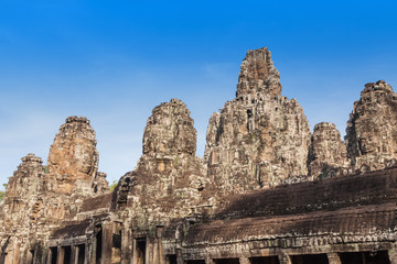 Historic ruins of Bayon Temple