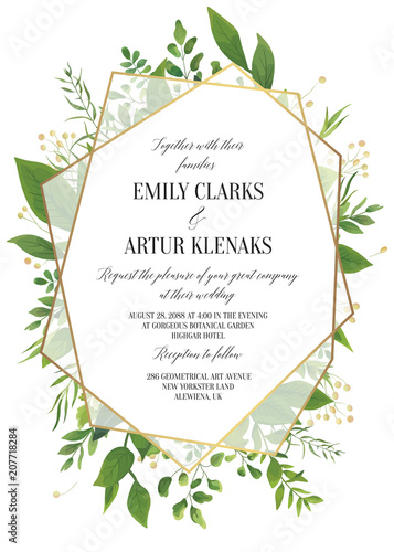 """Wedding Invitation floral invite save the date modern"