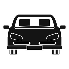 Front car icon. Simple illustration of front car vector icon for web design isolated on white background