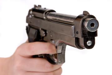 Finger on trigger