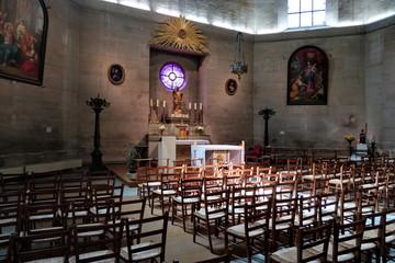 Intérieur de la Chapelle Saint Louis. Paris